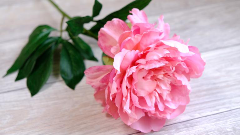 大きなピンクの美しいアーティフィシャルフラワー、ピオニーFM817-052