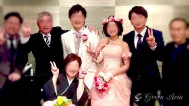 ドレスにセットされたブーケに合わせる花冠とアームレット|K様お写真とご感想